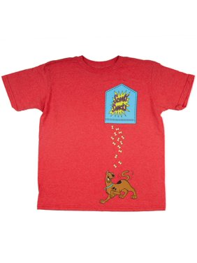 b7fde862 Product Image Red Heather Scooby Doo Scooby Snacks Faux Pocket Short Sleeve  Tee (Little Boys & Big