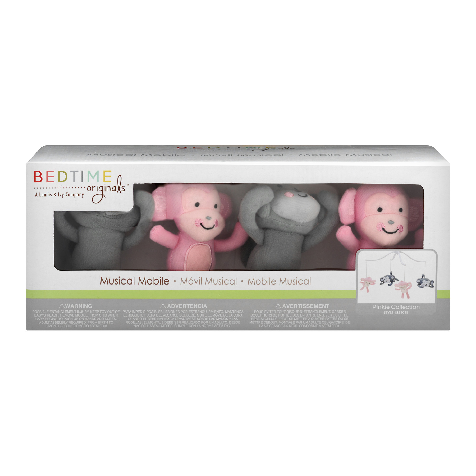 Bedtime Originals Pinkie Collection Musical Mobile