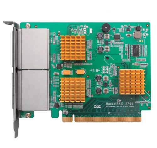 Highpoint Rocketraid 2744 Sas Raid Controller - Serial Ata/600, Serial Attached Scsi - Pci Express 2.0 X16 - Plug-in Card 0, 1, 5, 10, 50, Jbod Raid Level (rocketraid2744)