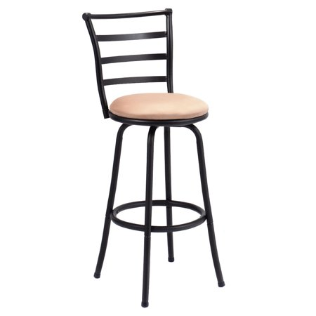 Gymax Swivel Bar Stool Counter Height Pub Chair