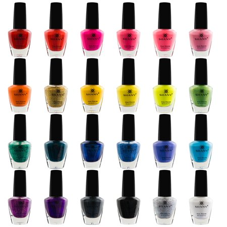 SHANY Cosmopolitan Nail Polish set - Pack of 24 Colors - Premium Quality & Quick (Best Nail Polish Colors For February)