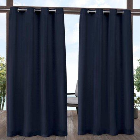 Exclusive Home Indoor/Outdoor Solid Cabana Grommet Top Curtain Panel Pair