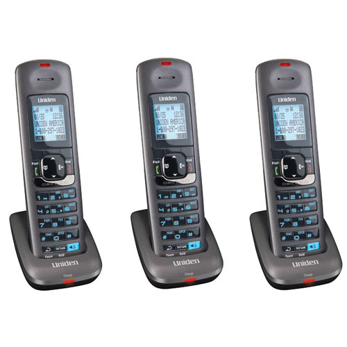 Uniden DCX400-3 Handset & Charger with 1.9GHz Range for Voice Clarity/Security