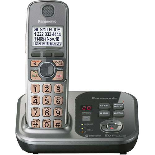 Panasonic KX-TG7731S DECT 6.0 Link-to-Cell Convergence Solution Phone with 1 Handset