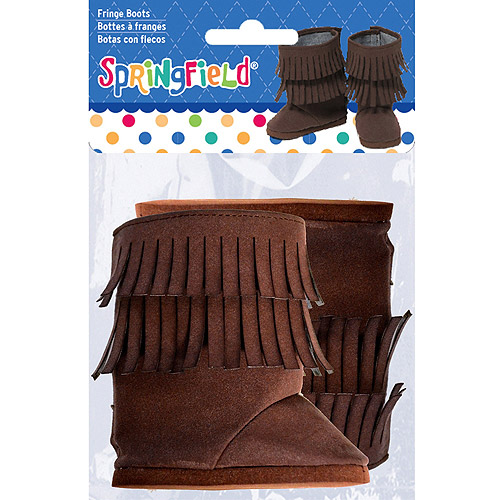 Springfield Collection Fringe Boots, Brown