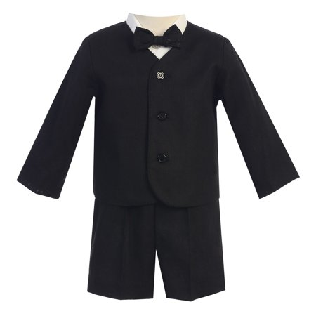 Little Boys Black Eton Short Formal Ring Bearer Suit 2T - Ring Bearer Outfits