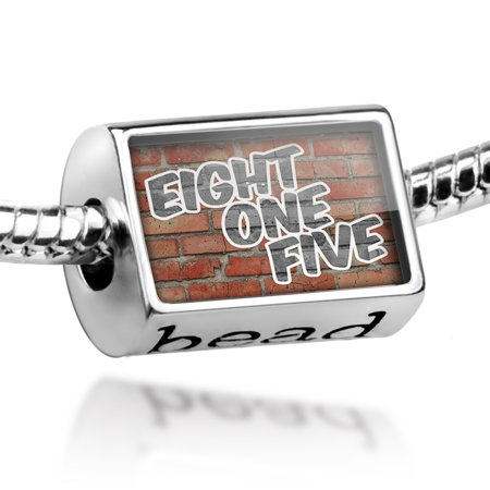 Bead 815 Rockford, IL brick Charm Fits All European Bracelets (Party City Rockford Il)