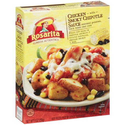 Rosarita Chicken with Smoky Chipotle Sauce, Seasoned Potatoes, Black Beans and Corn, 9 oz