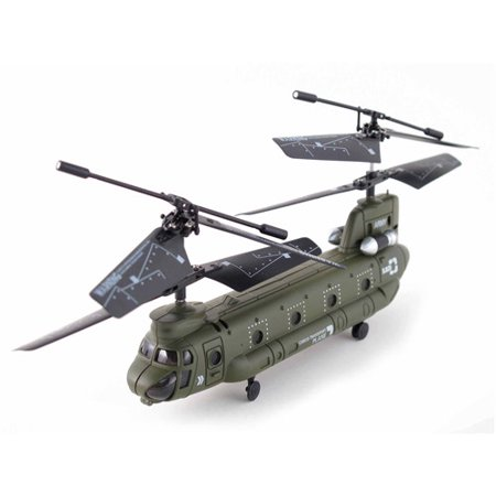 Syma S026g 3 5 Channel Rc Mini Chinook Helicopter With Gyro  Army Green