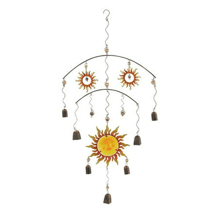 Scintillating Metal Glass Wind Chime