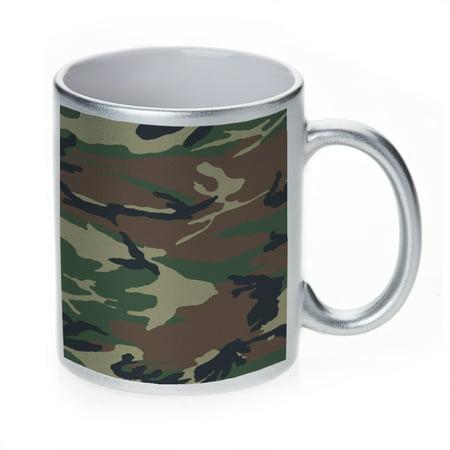(KuzmarK Silver Sparkle Coffee Cup Mug 11 Ounce - Camouflage)