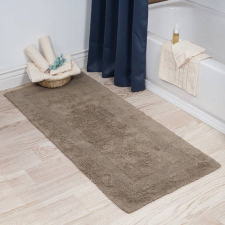 Somerset Home 100 Cotton Reversible Long Bath Rug Taupe