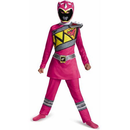 Pink Power Ranger Dino Charge Classic Child Halloween Costume - Classic Kid Halloween Costumes