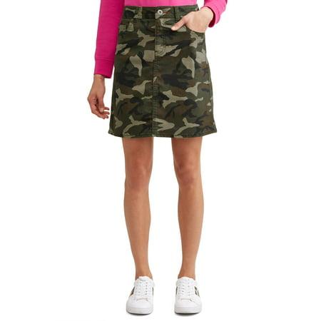 Alex Camo Denim Skirt Women's