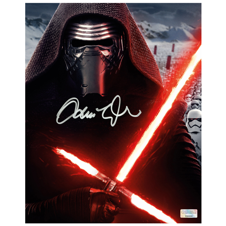 Adam Driver Autographed Star Wars: The Force Awakens 8x10 Kylo Ren Portrait Photo