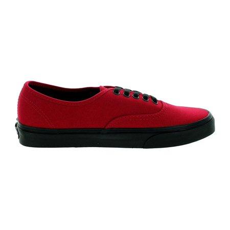 7bf90549998 VANS - Vans Unisex Authentic Black Sole Skate Shoes-Jester Red - Walmart.com