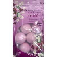 Bodycology Bath Fizzies with Vitamin E, Dark Cherry Orchid, 8 Ct, 2.1 oz ea