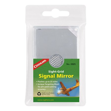 Sight-Grid Signal Mirror, Whistle Size SightGrid Plastic LED Bulk Survival 650 with Signal 2 3 5 Coghlans Light 7 X x SixFunction 9900 Mirror Camping By Coghlan's - Plastic Whistles Bulk