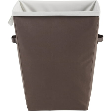 Mainstays™ Rectangular Hamper with Removable Liner Brown