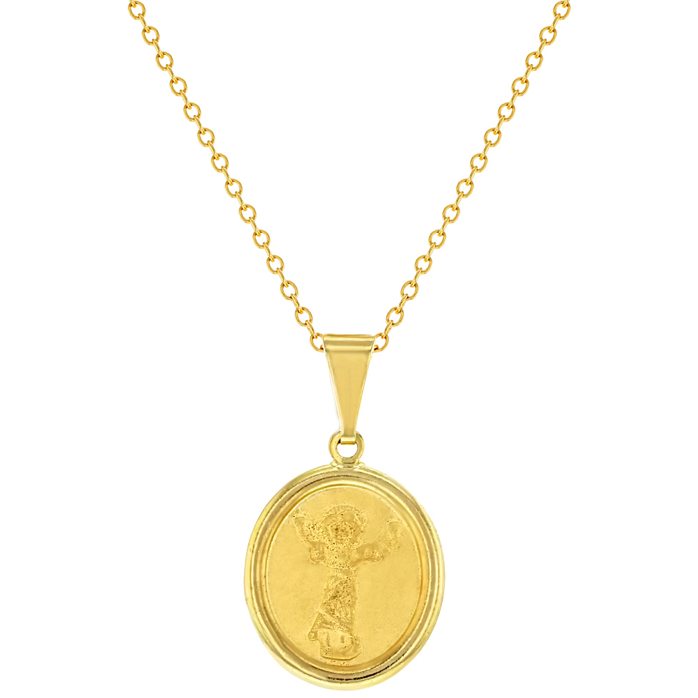 18k gold plated divine child baby jesus medal catholic pendants 18k gold plated divine child baby jesus medal catholic pendants necklace kids 16 walmart aloadofball Choice Image
