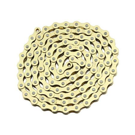 Ybn Chain 1 2x1 8x112 Single Speed In Gold Bike Chain Bicycle