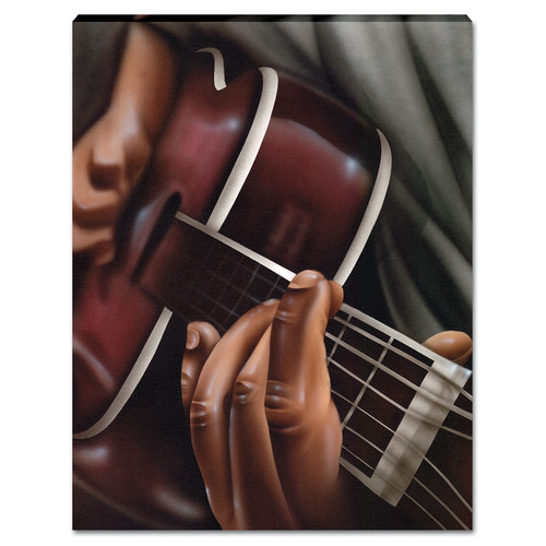 Image of African American Expressions Jammin 2 Graphic Art on Canvas