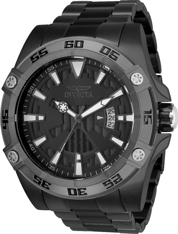 Men's 26524 Star Wars Automatic Multifunction Black Dial Watch