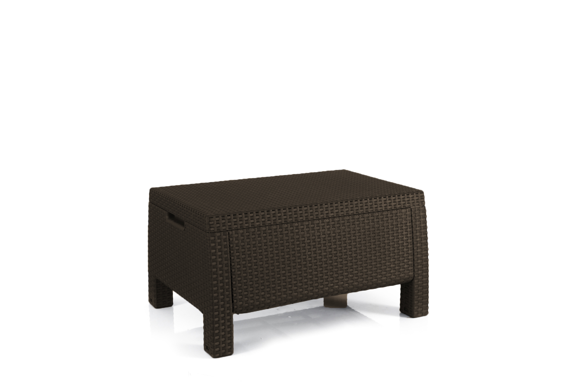 Keter Bahamas Storage Coffee Table Brown, Resin Outdoor Patio Furniture by Keter