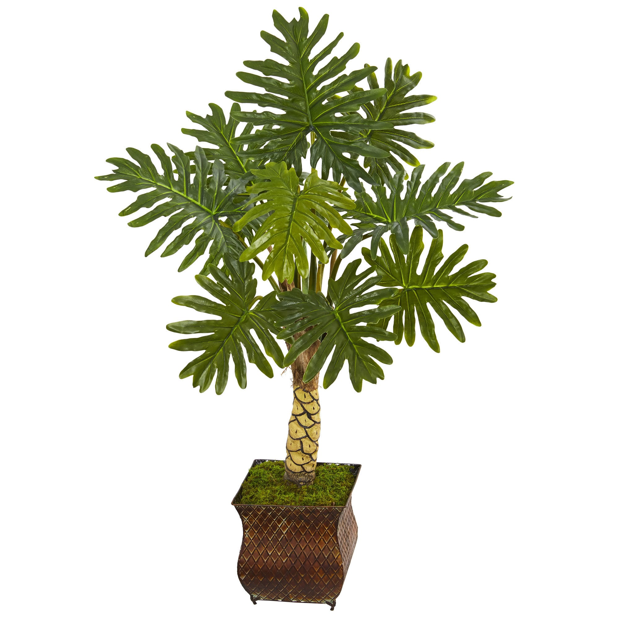 Nearly Natural 4.5' Monstera Artificial Tree in Metal Planter