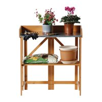 Gardien Rectangular Tan Potting Table
