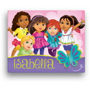 "Personalized Dora and Friends Butterfly Fun Canvas Wall Art, 11"" x 14"""