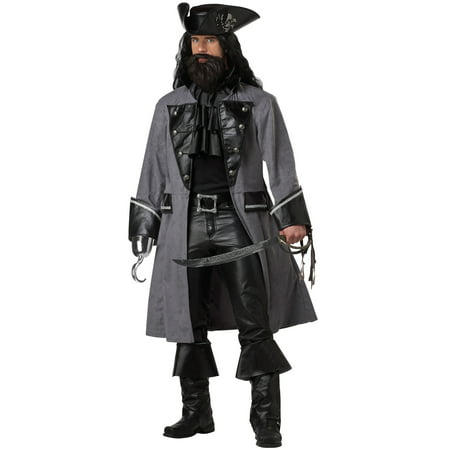 Blackbeard, The Pirate Adult Costume - Blackbeard Costume For Adults