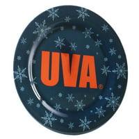 Virginia Cavaliers 4-Pack Snowflake Plastic Plates - No Size