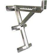 Qualcraft 2431 3-Rung Ladder Jack, Aluminum, For Round or D-Rung Style Ladders