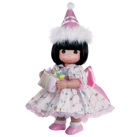 Original Doll Maker - Precious Moments Dolls by The Doll Maker, Linda Rick, Birthday Wishes Brunette,12 inch doll