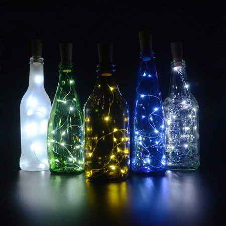 Bottle Cork Lights, [78 inch/ 2M] 20 LED String Lights [White] Perfect for Wine Bottle DIY, Party, Table Decor, Christmas, Halloween, Wedding Centerpieces and More! - Light Up Table Centerpieces