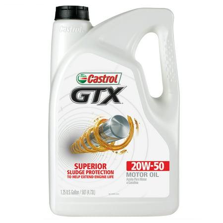 castrol gtx 20w 50 conventional motor oil 5 qt walmart