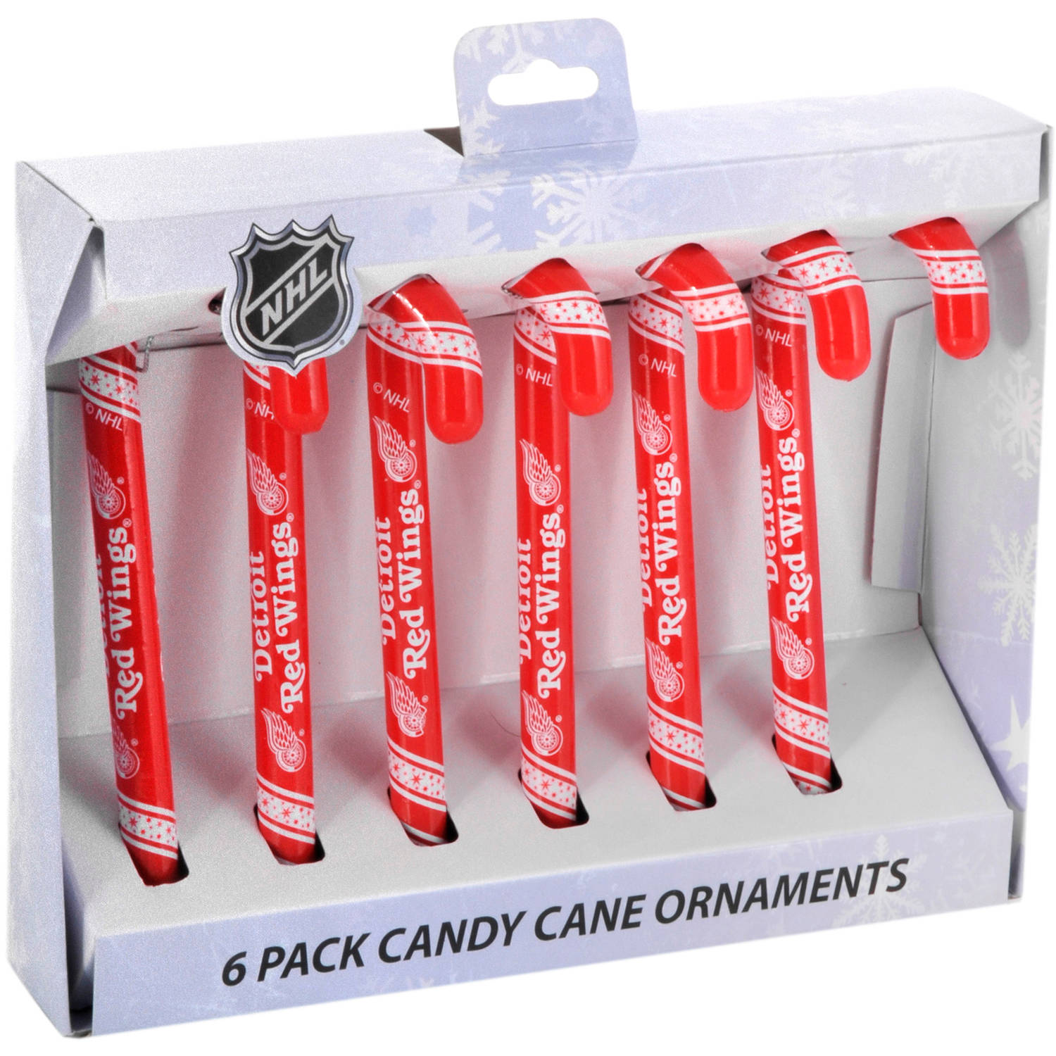 Forever Collectible NHL Candy Cane Ornaments, Detroit Red Wings