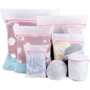 7 PCS Extra Large Heavy Duty Mesh Laundry Bags, Durable Delicates Net Wash Bag for Bra Lingerie, Underwear, Socks, Sweaters and Garment, Travel Organization Washing Bag