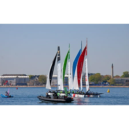 Peel-n-Stick Poster of Start Competition Harbour Ocean Sea Vm34 Boats  Poster 24x16 Adhesive Sticker Poster Print