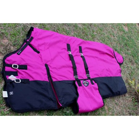 1200D Turnout Waterproof Horse Heavy Winter Blanket Bellyband Raspberry (Best Waterproof Horse Blanket)