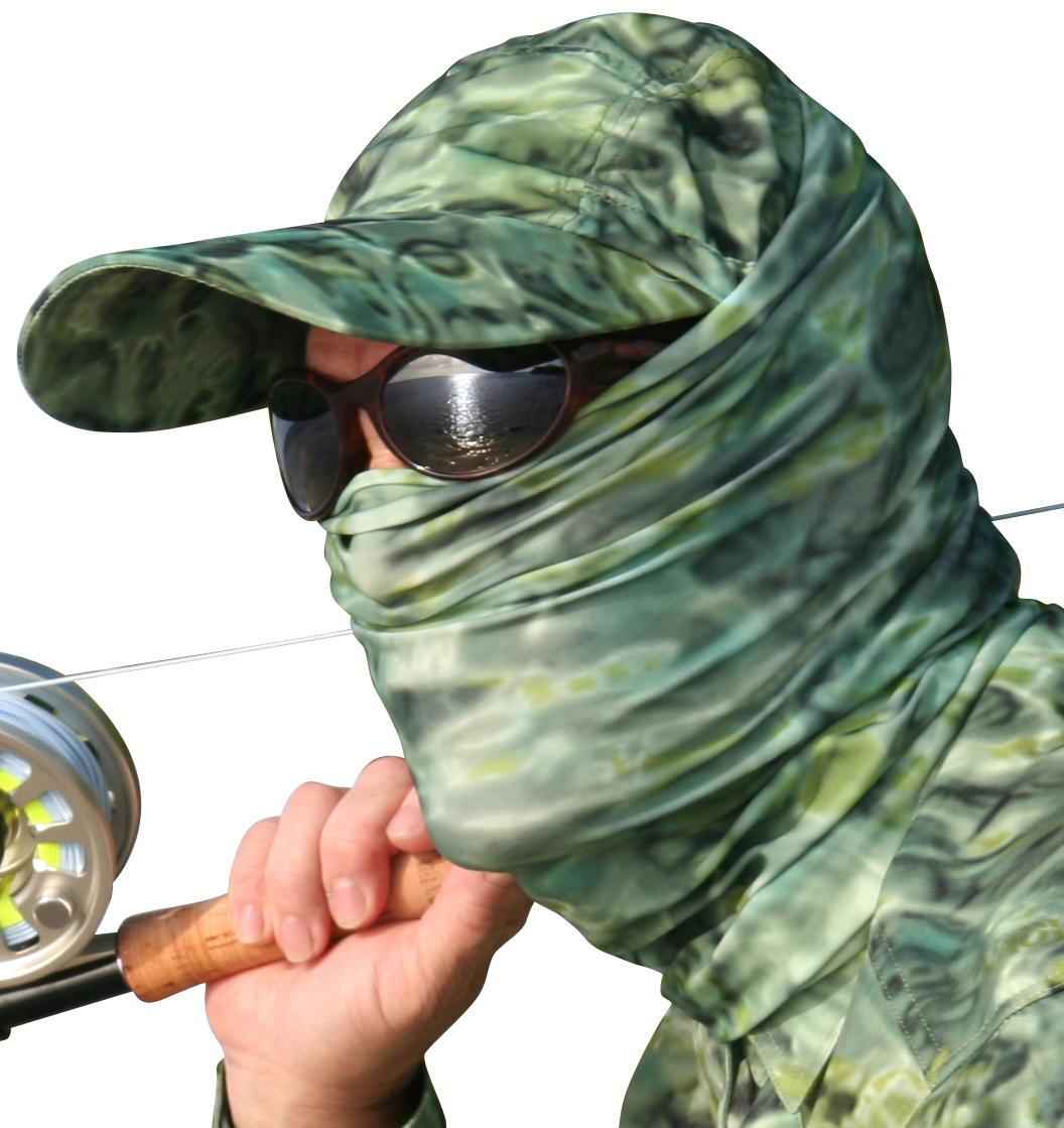 Aqua Design Men Water Camo UPF 50+ Sun Guard Protection Mask Face Tube Multipurpose Wind Head Neck Sizes Youth to Adult XL Sports Fishing Backpacking Gaiter