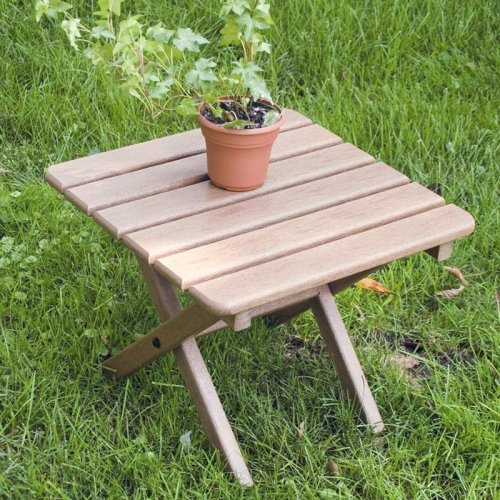 POLYWOOD® Traditional Recycled Plastic Square Side Table