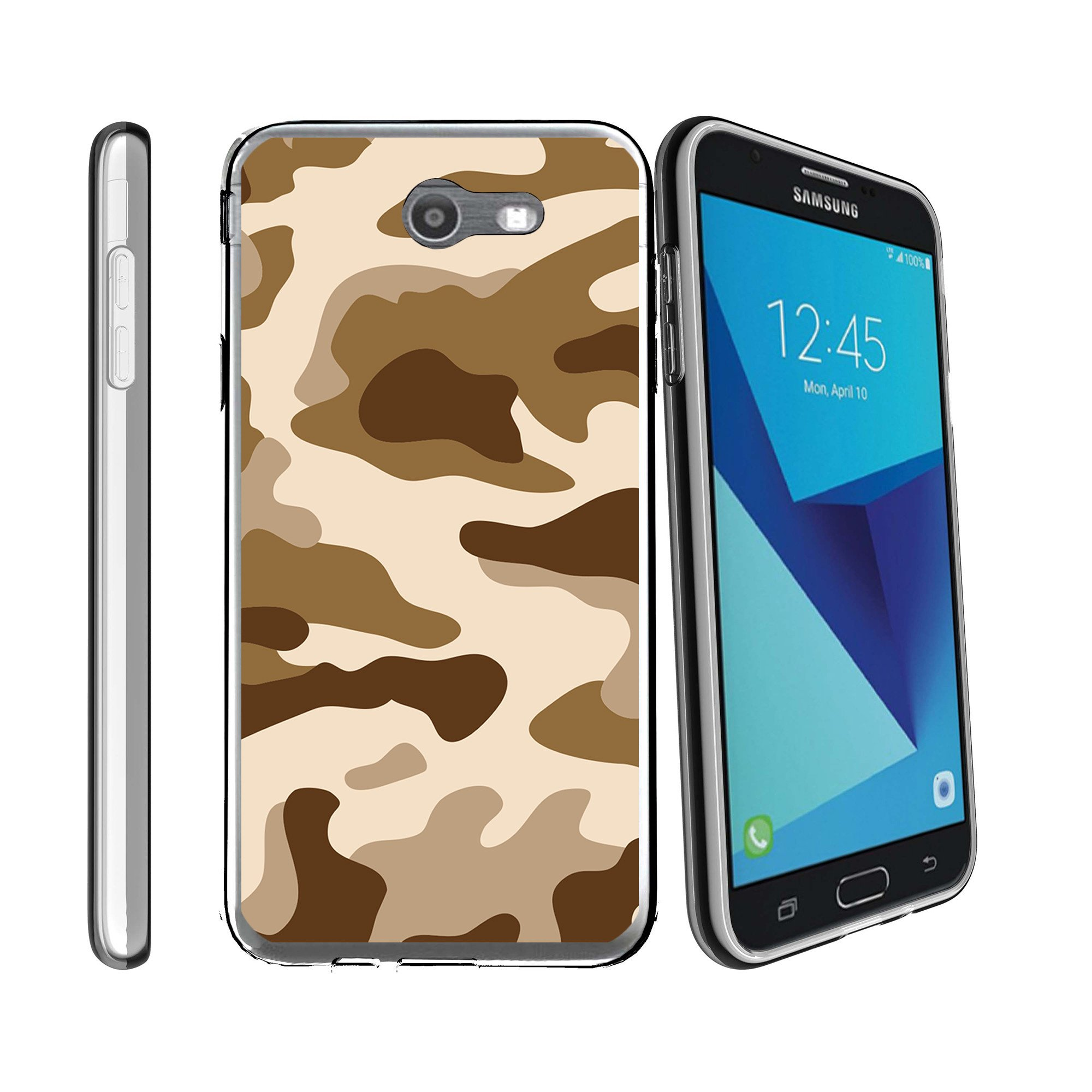 Case for Samsung Galaxy J7 PRO | SKY PRO Cover | J7 SM-J720 2017 Case [ Flex Force ] Flexible Clear Case Camo Collection