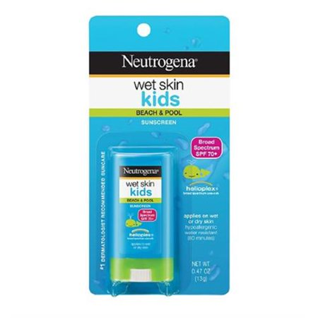 Neutrogena Wet Skin Kids Sunscreen Stick, SPF 70, 0.47 oz (Pack of 6)