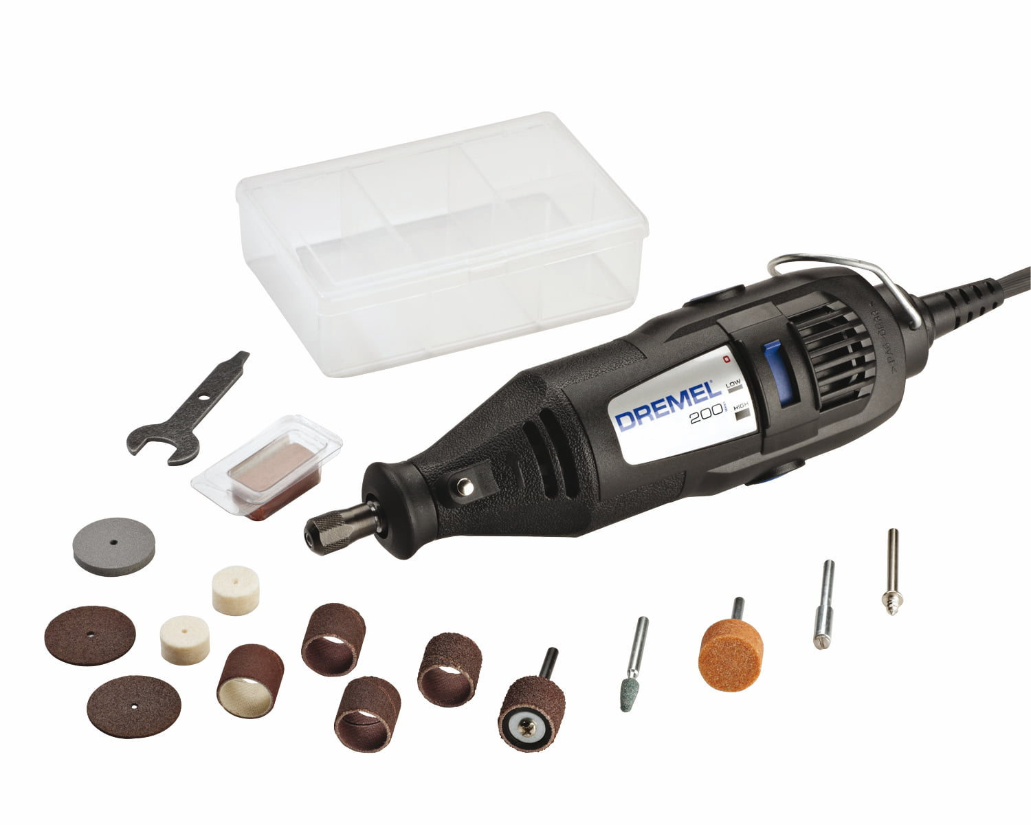 Dremel 200-N 15 0.9 Amp 2-Speed Corded Rotary Tool Kit with 15 Accessories by Dremel (DREMEL)