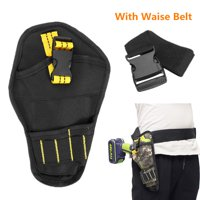 Cordless Electric Drill Screwdriver Heavy Duty Tool Storage Bag Multi-Pocket Waist Pouch with Waist Belt
