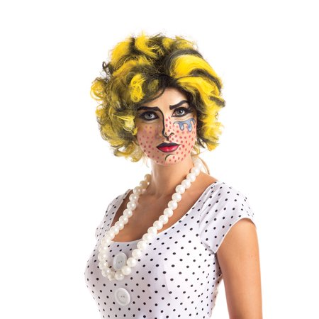 Adult Female Pop Art Wig by Party King WG683 (King Wig)