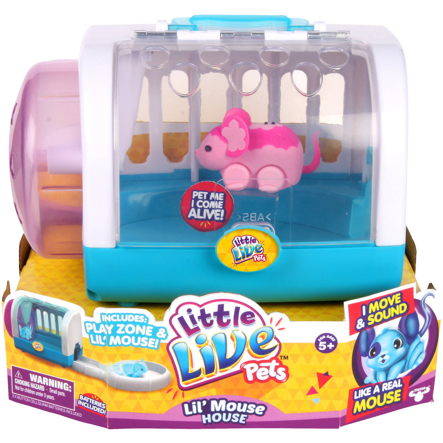 Moose Toys Little Live Pets Season 1 Lil' Mouse Cage Set ...