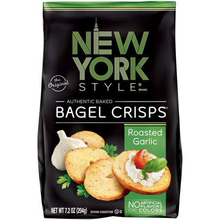 New York Style Bagel Crisps, Garlic, 7.2 Oz
